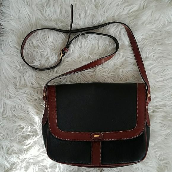 80a9e3ad7040 Bally Handbags - VINTAGE BALLY Leather Black Brown Crossbody Bag
